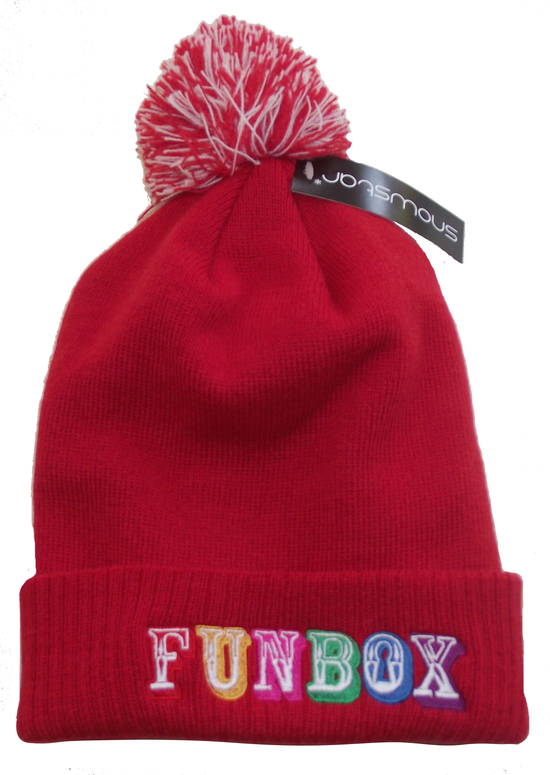 Funbox Beanie in Funky Red